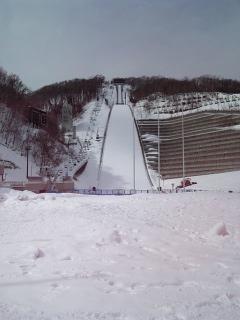 雪の巨大すべり台〜